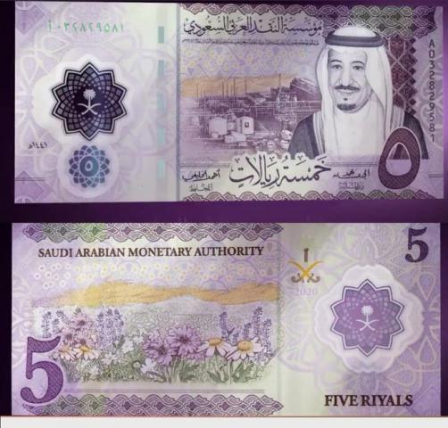5 ريالات سعودية بوليمر