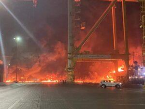 شاهد بالفيديو انفجار دبي